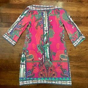 ECI New York Paisley pink dress